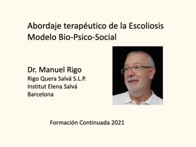 Abordaje terapeutico de la Escoliosis basado en el modelo Bio-Psico-Social